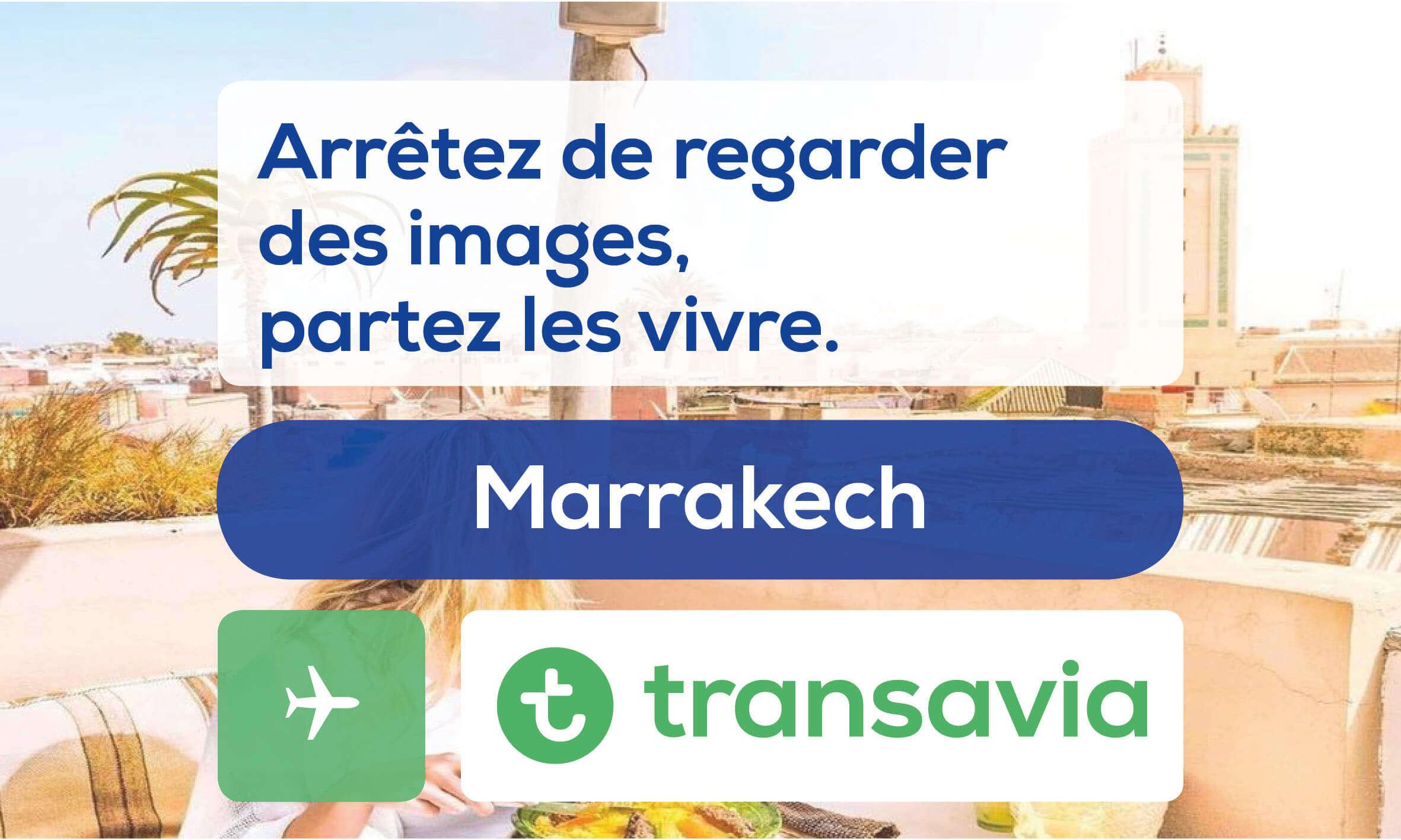 r servez votre vol pour marrakech pas cher transavia. Black Bedroom Furniture Sets. Home Design Ideas